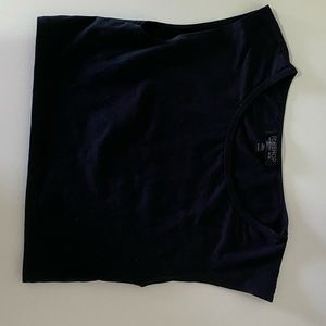 Topshop cap sleeve crop top